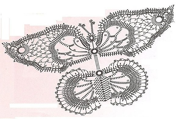 papillons 5,,  Site has MANY graphed butterfly patterns