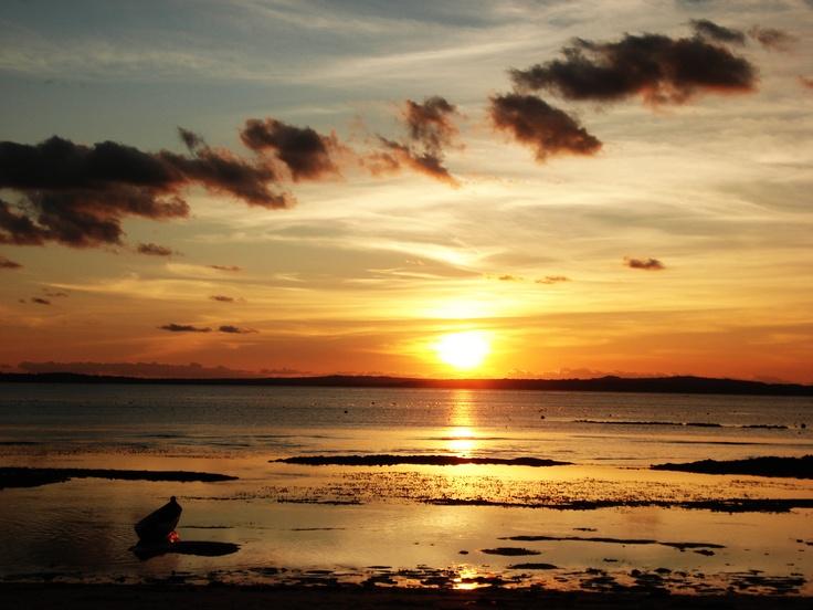 sunset in mentawai island, west sumatera