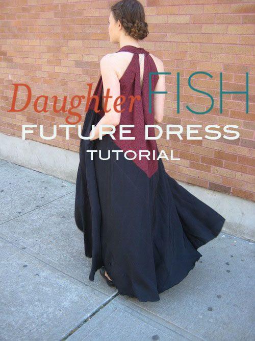 Tuto: Magnifique robe faite avec 4 triangles