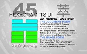 """45: 萃 - Ts'ui """"Gathering Together"""""""