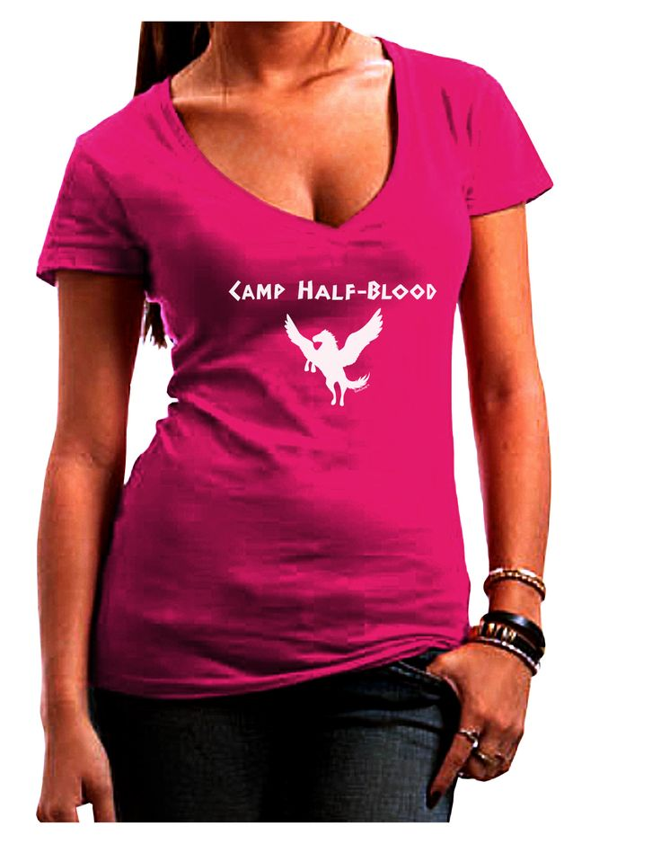 Pegasus Camp Half-Blood Juniors V-Neck Dark T-Shirt