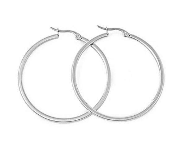 20/60Mm Sleek Surgical Stainless Steel Grade Hypoallergenic Hoop Earrings Bluk