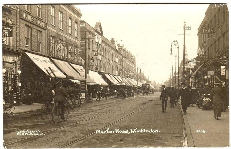1919 WIMBLEDON Merton Road LONDON Photo Postcard
