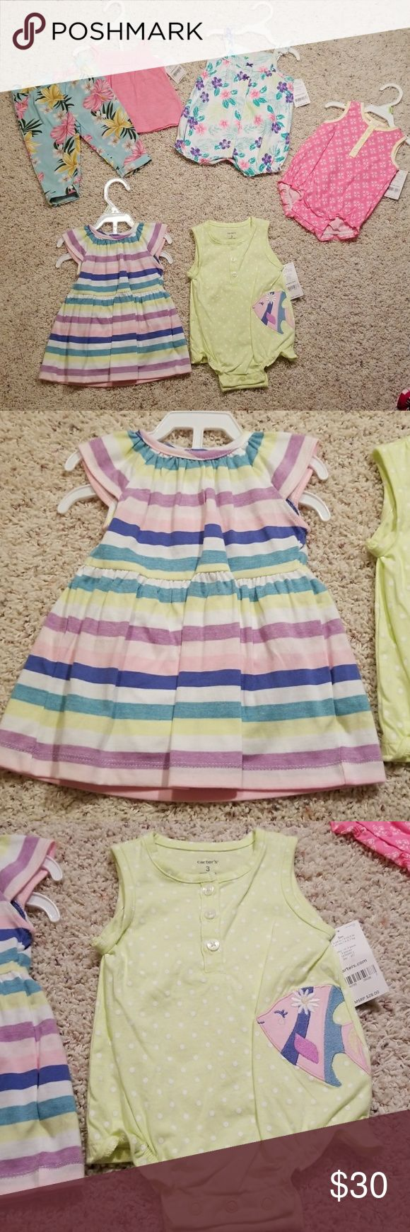 Carter's 7-piece Lot NWT Carter's Lot All 7 pieces are brand new with tags attached from Carter's store Size 3 months  Thanks for looking and happy shopping! Carter's Matching Sets