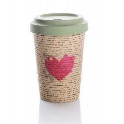 Chic mic Bambus Becher to go BambooCup LOVE LETTERS