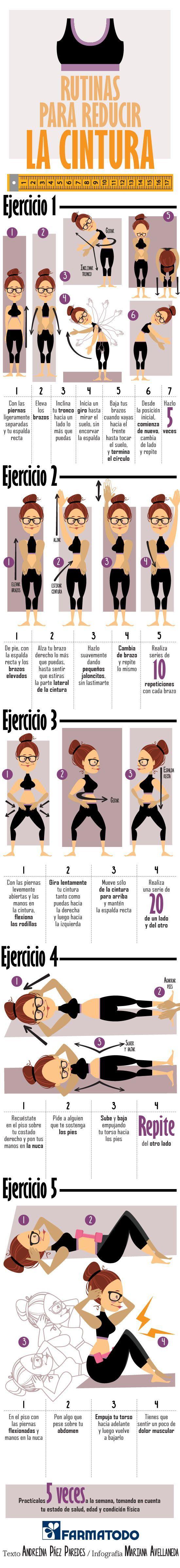 Esta rutina te ayudará a reducir tu cintura. ¡Sigue los pasos!: