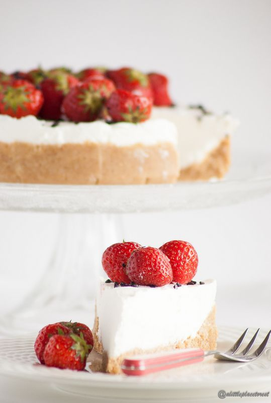 Torta fredda allo yogurt - Frozen yogurt cake