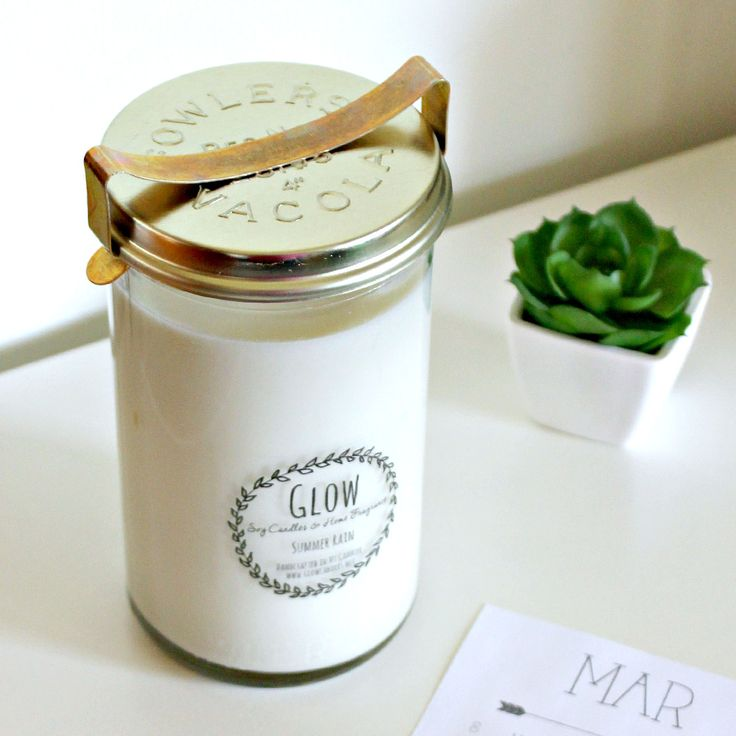 No. 31 Vintage Fowlers jar candle.  Handcrafted soy candles by Glow   www.glowcandles.net