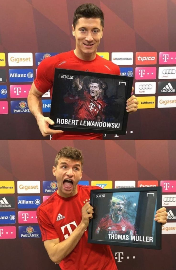 There are two kinds of people, haha!  Robert Lewandowski and Thomas Müller.