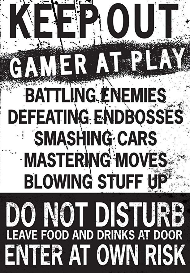 d25dd9605ba Keep Out Gamer at Play Enter at Own Risk Funny Novelty Poster (20x13 ...