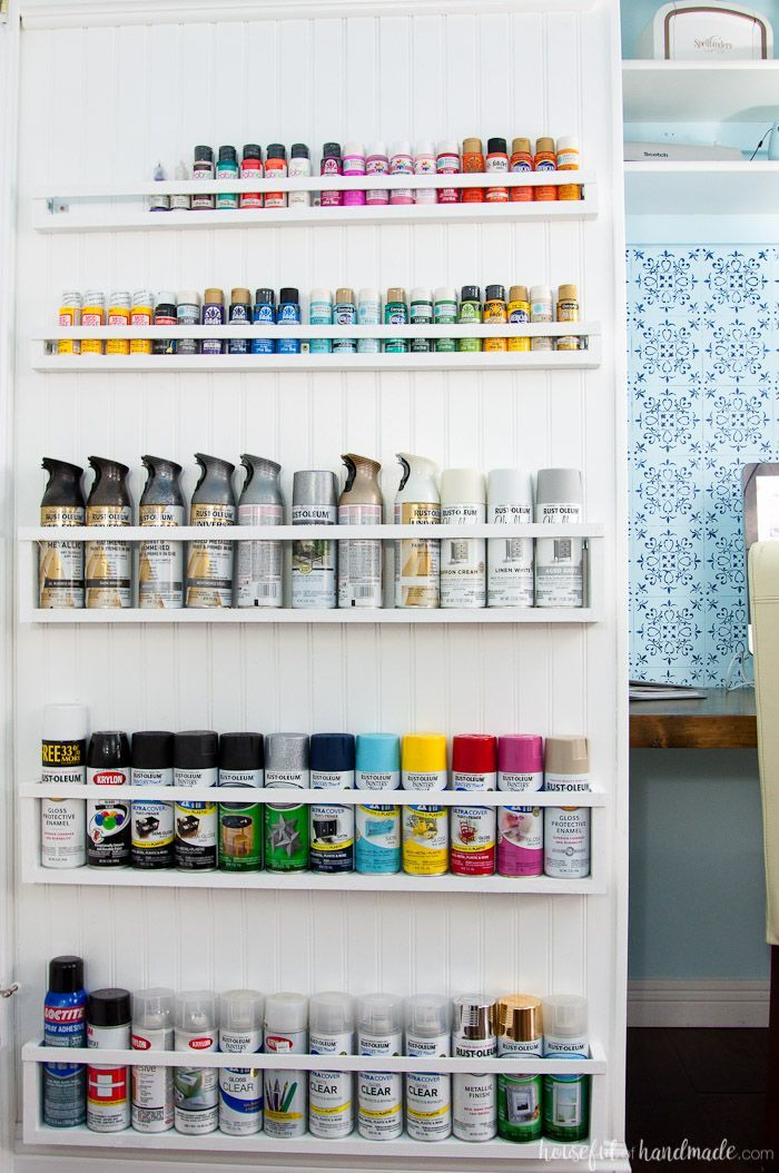 Best 25 spray paint storage ideas on pinterest paint for Cheap craft room storage ideas