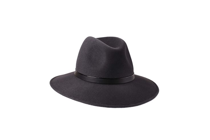 Penmayne of London - Willow Fedora in Elephant Grey with Patent & Black Leather Band www.penmayne.com #fedora #hats #accessories