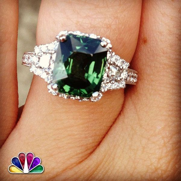 Beautiful Diamond Studded Emerald Ring . This beauty will add 5th star in your luster.
