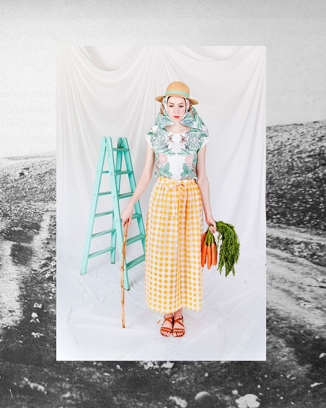 LOVE EVERYTHING ABOUT THIS COLLECTION - Meditteraneo collection from la casita de wendy, (Inés Aguilar and Iván Martíneza; illustrator Ana Sender): The Little House, 2013, Fashion Mode, Color, Cottage, Fashion Editorial, Photo
