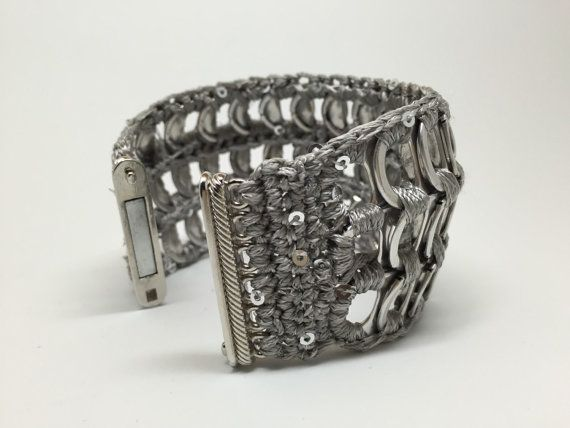 Band bracelet made with pop tabs from cans by NaftalinaHandMade