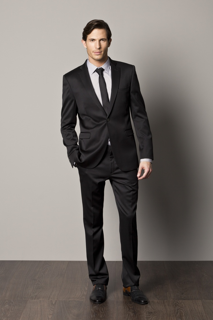Men Black Suit Dress Yy