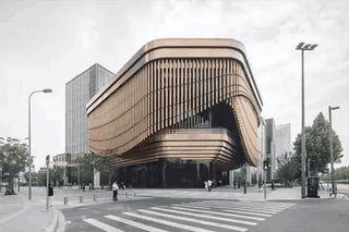 Shanghai's Bund Finance Center's façade time lapse. : architecture