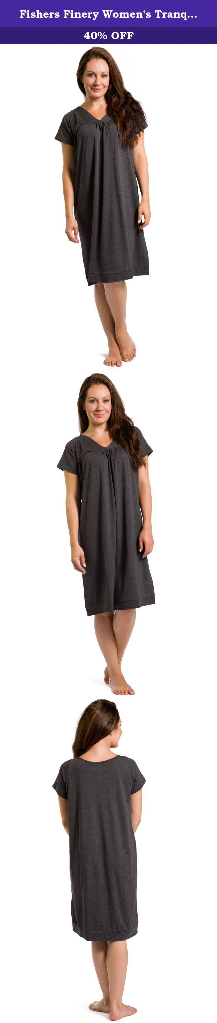 Fishers Finery Women's Tranquil Dreams Short Sleeve Nightgown Comfort Fit, Heather Gray, XX-Large. Our nightshirts are long enough to be comfortable but short enough to not be cumbersome. This short sleeve chemise is loose and extremely comfortable. Our nightwear can be both warm and cool with its wicking capacity and soft fabric hug that is not restricting. It is a great alternative to pajamas or shorty gowns of not so natural materials.