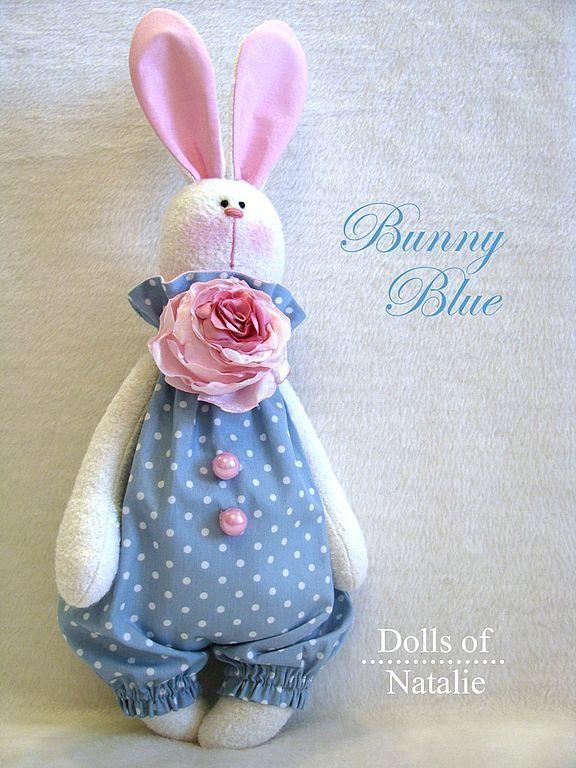 Зверята ручной работы. Ярмарка Мастеров - ручная работа Bunny Blue. Handmade.