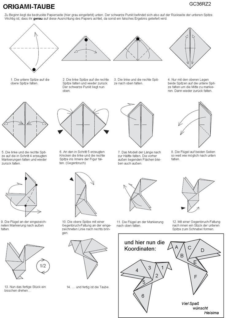how to make a paper bird easy origami