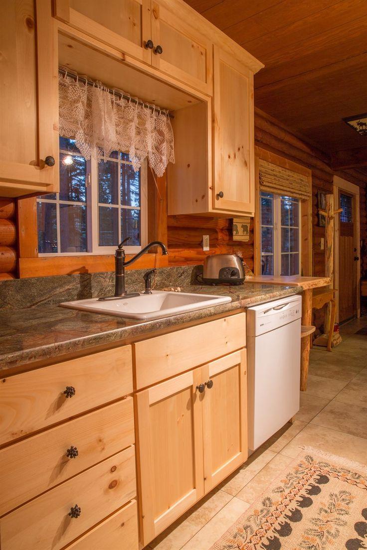 20 best Cabin Kitchens images on Pinterest | Log home kitchens ...