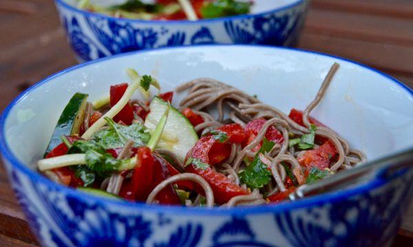 Creatively Delish | Cold Sesame Soba Noodle Salad | http://creativelydelish.com
