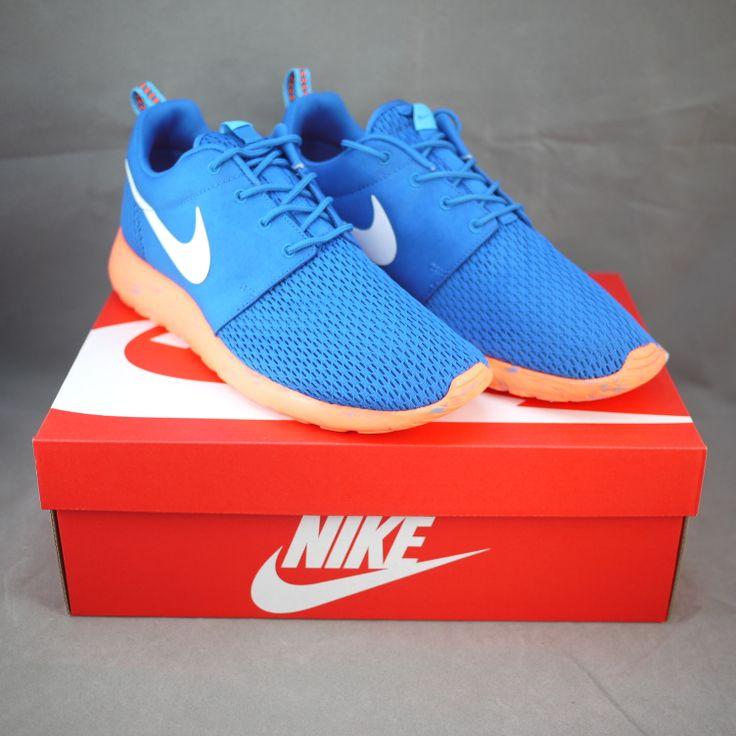 Men's Nike Rosherun Roshe Run M Marble Pack Miltary Blue Orange Sneakers : Q12d5715