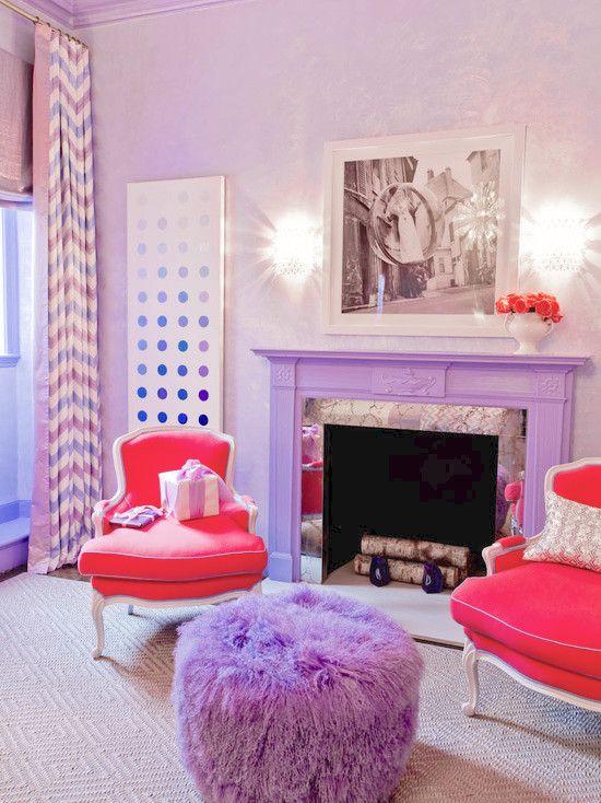 42 best pantone radiant orchid interior ideas images on pinterest interior ideas bedrooms and - Bedroom interior pink purple ...
