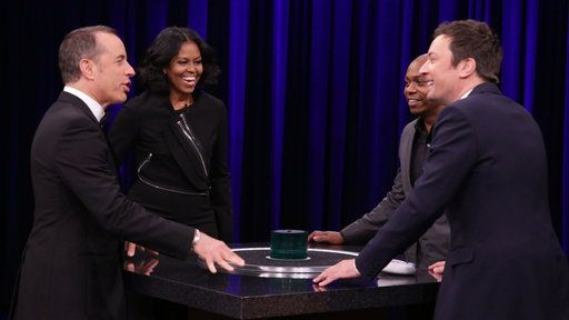 Watch The Tonight Show Starring Jimmy Fallon Season 4 Episode 65 Excerpt Free Online - Catchphrase With First Lady Michelle Obama, Dave Chappelle and Jerry Seinfeld | Yahoo View