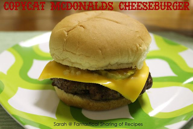Copycat McDonald's Cheeseburger. Make your own cheeseburgers that taste just like the real thing, but you control what goes in! #McDonalds #...