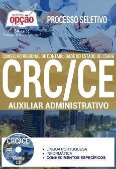 Nova -  Apostila Processo Seletivo CRC CE 2017 - AUXILIAR ADMINISTRATIVO  #apostilas