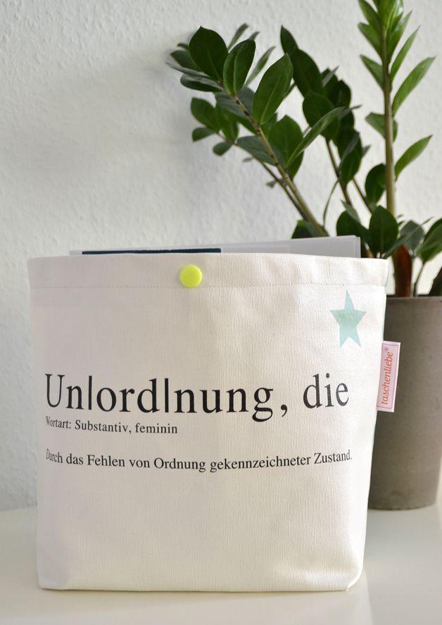 "Kleine Tasche mit Print ""Unordnung"" // small bag with print by Rasmussons via DaWanda.com"