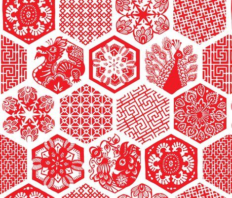 chinese paper cuttings // tonia_dee