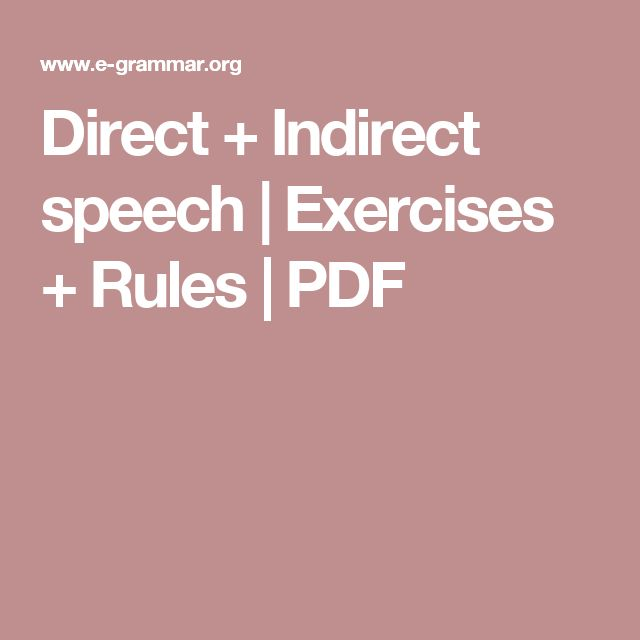 direct indirect speech rules pdf in hindi
