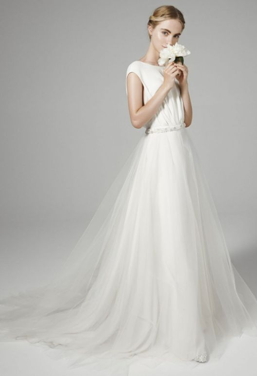 Featured Dress: Peter Langner wedding dress