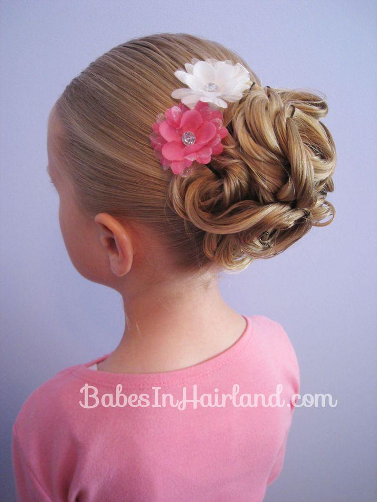 17+ Best Ideas About Little Girl Updo On Pinterest