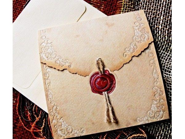 Invitatii de Nunta Vinatge cu Pecete veti gasi in noua colectie Invitatie.org!