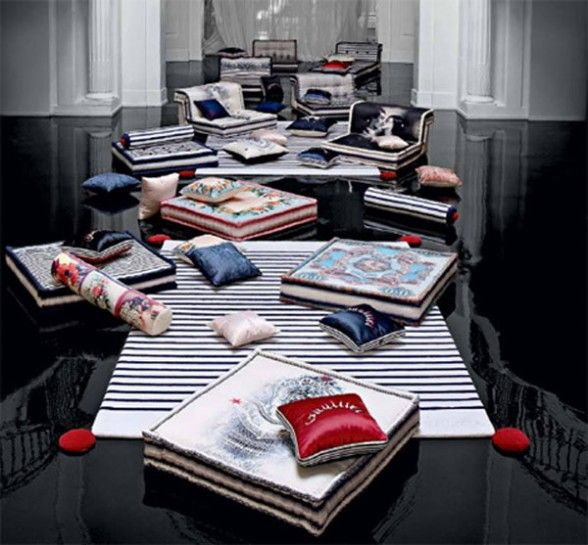 Popular Jean Paul Gaultier couture furniture collection for Roche Bobois