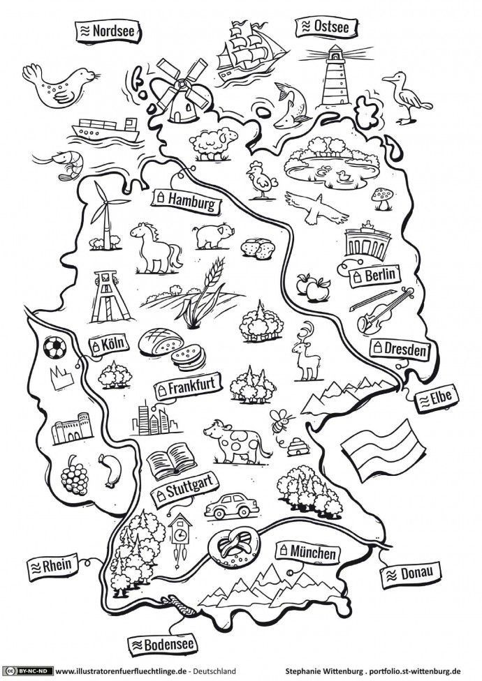 Die Besten Ideen Fur Ausmalbilder Deutschland Beste Wohnkultur Bastelideen Coloring Und Frisur Inspiration Schule Deutsch Kinder Deutschlandkarte