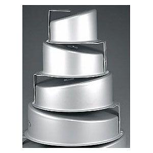 Fat-Daddio-039-s-Round-Topsy-Turvy-Mad-Dadder-4-Piece-Cake-Pan-Set