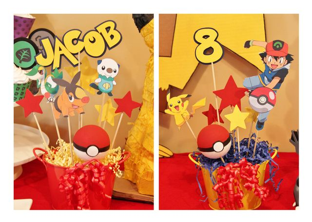 Decorations At A Pokemon Party Pokemon Partydecor Party Ideas