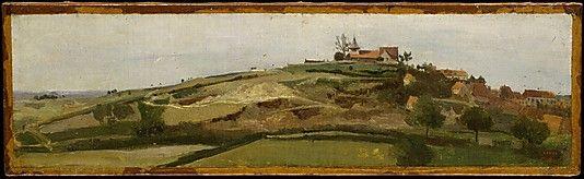Corot. View of Lormes. Metropolitan Museum of Art.