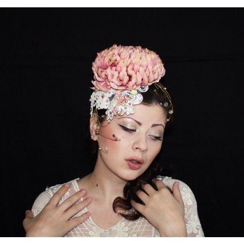Swarovski Crystals Fascinator #accessories #fashion #headpiece #fascinator #hat #headdress #hairstyle #wedding #bridal #crystal #glamour #chic #millinery #romantic #fantasy #derbyhats #hats #flowers #swarovski #weddingheadpiece #collection #fairy #weddings #look #pink