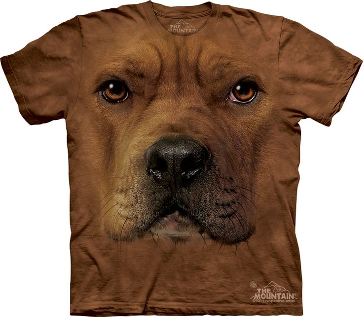 Big Face Pitbull T-Shirt - Click image to see hundreds of different animal t-shirts #themountaintees