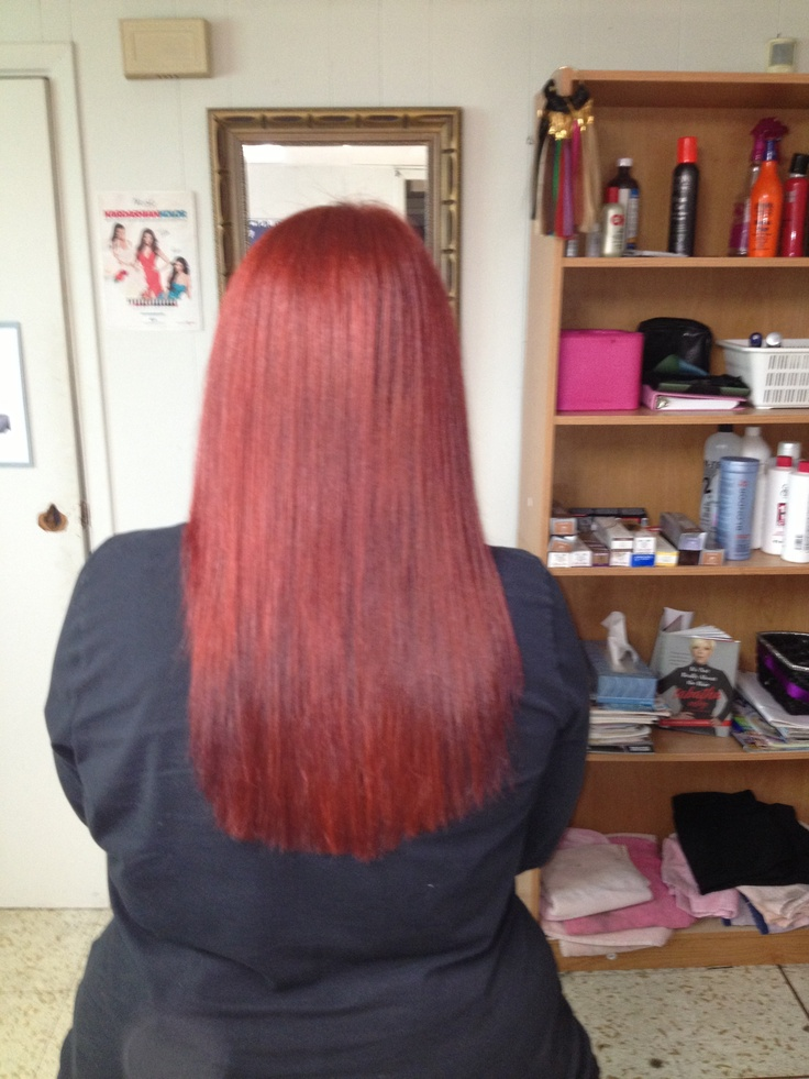 Gorgeous red on my client