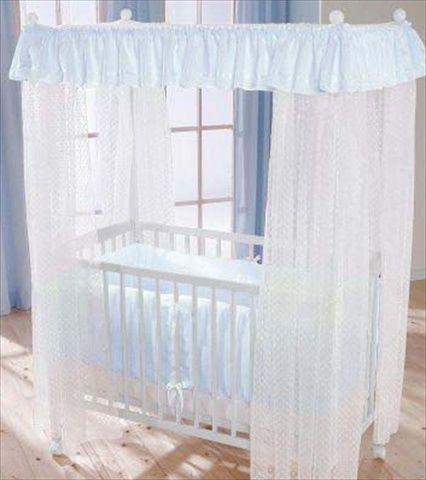 LEIPOLD Himmelseng med madrass og blå sengetøy. Frifrakt Kr 4999