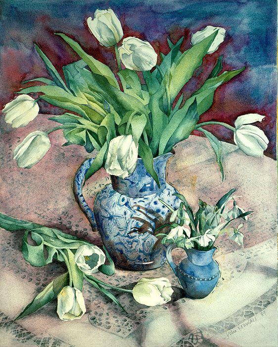 Тюльпаны и подснежники печати Юлия Раунтри