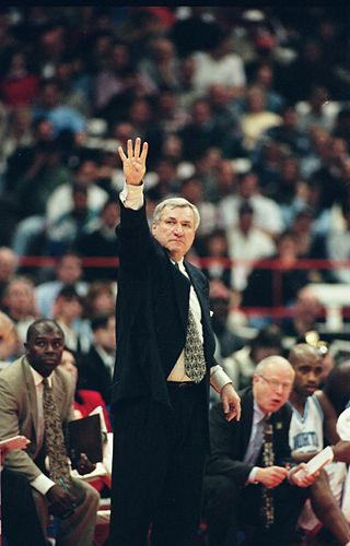 Dean Freakin' Smith. The greatest coach of all time. 4 Corners baby!
