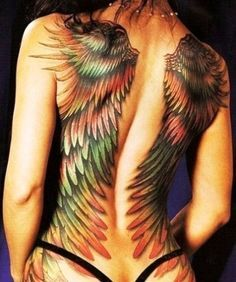 angel wing tattoos on back - Google Search
