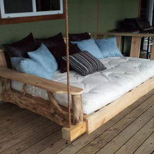 Porch Swing Bed, Full by Rustics and Stones - Enjoy spending lazy afternoons relaxing outdoors with a good book, a cool drink and a treasure...